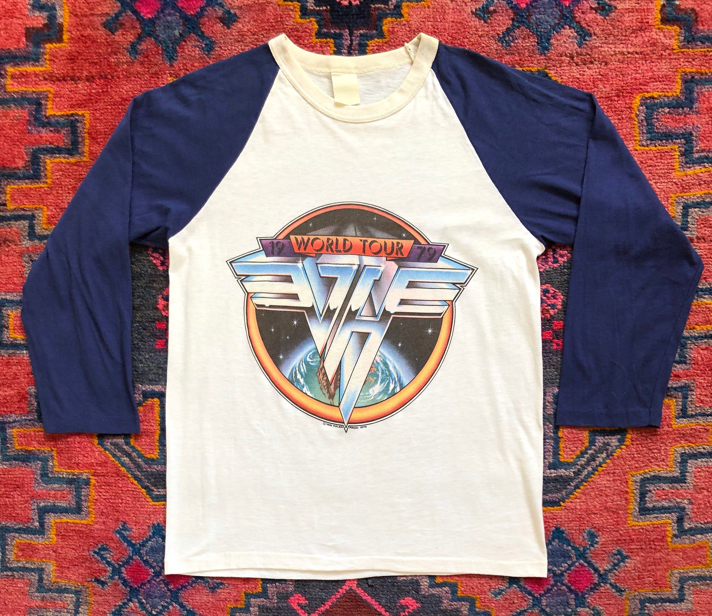 Awesome Vintage 1970s Van Halen World Tour Raglan Shirt Raglan Shirts Funky Pants Shirts