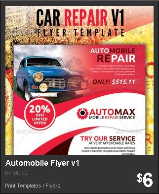 Automobile Flyer Version 1 - 1st Edition of Automobile Repair - car flyer template