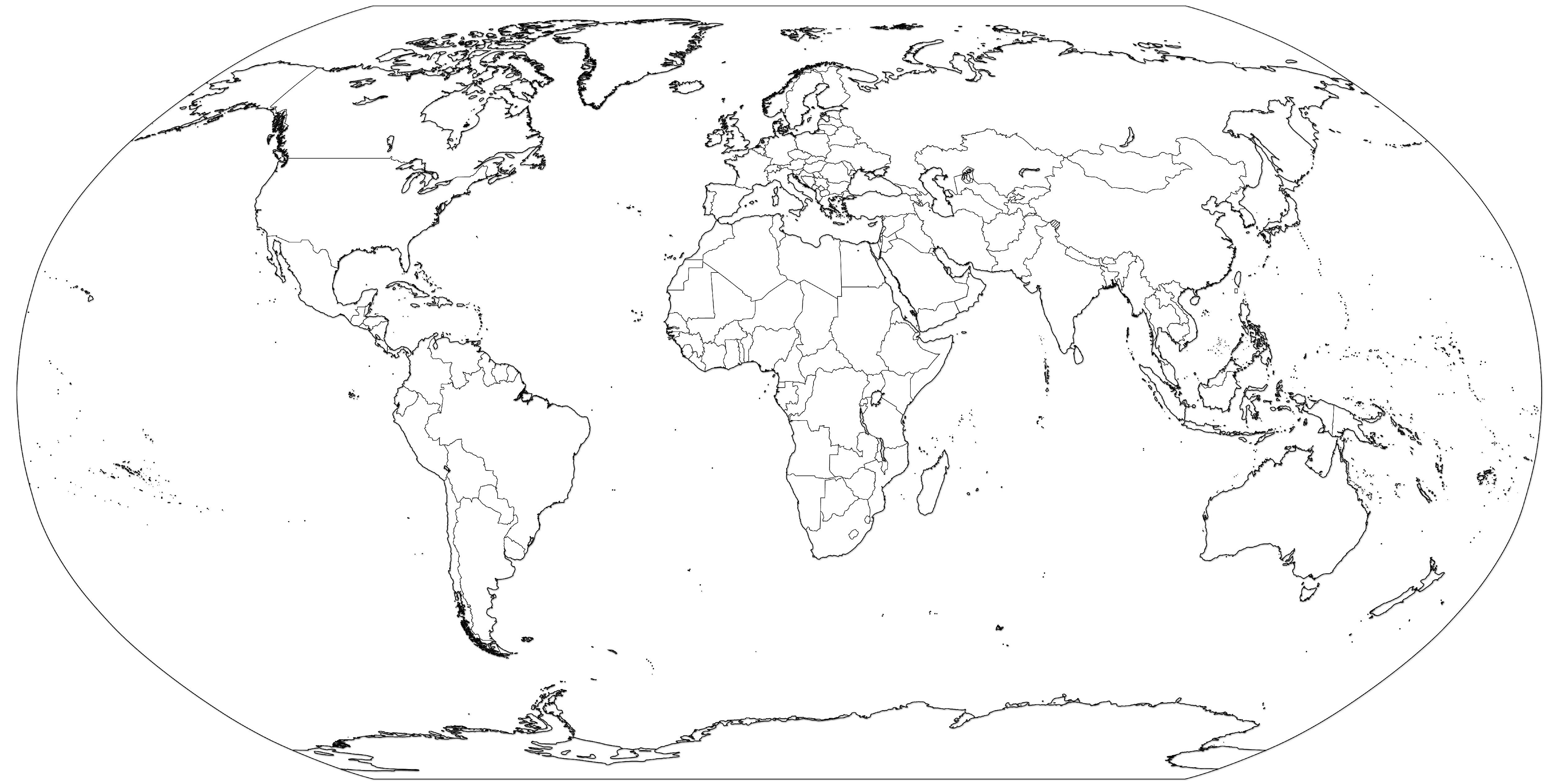 Copy World Map Template 13 World Map Coloring Page Free