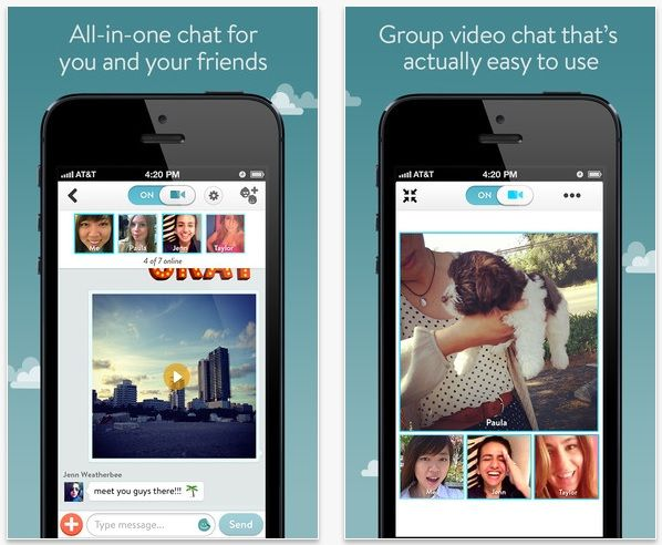 FREE iPhone App OkHello Group Video Chat With Friends