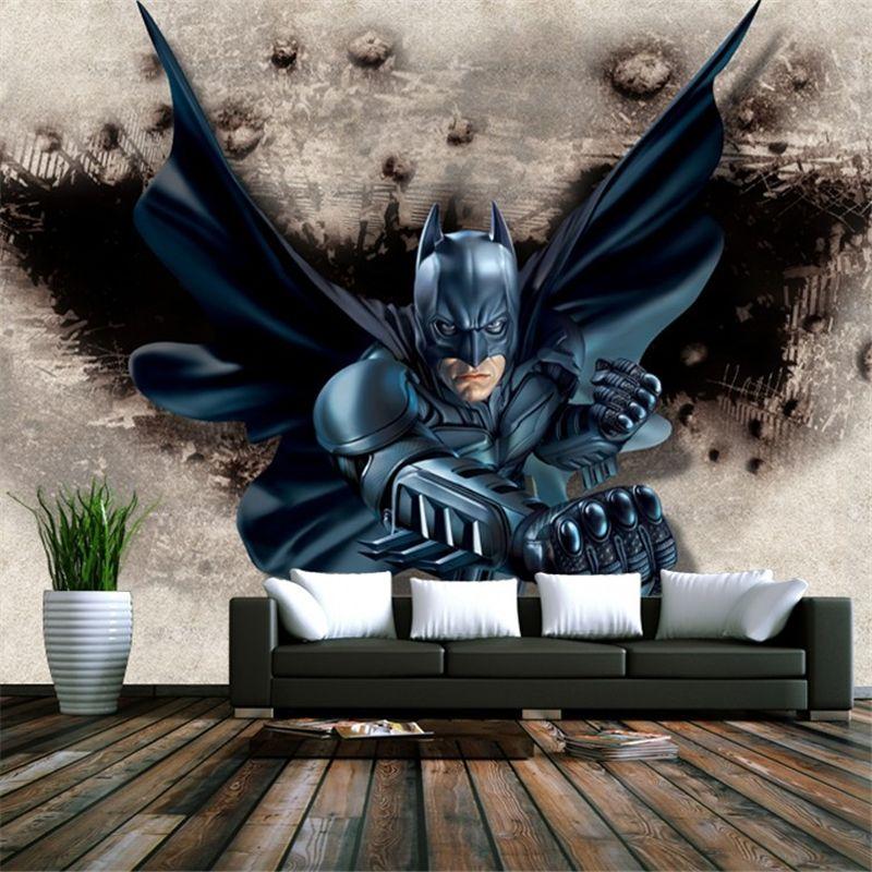 Best Beibehang Batman Wallpaper Mural Backdrop Decorated 400 x 300