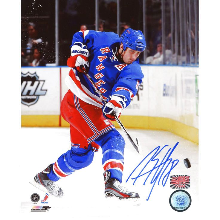 "Marc Staal New York Rangers Fanatics Authentic Autographed 8"" x 10"" Shooting Blue Uniform Photograph - $43.99"