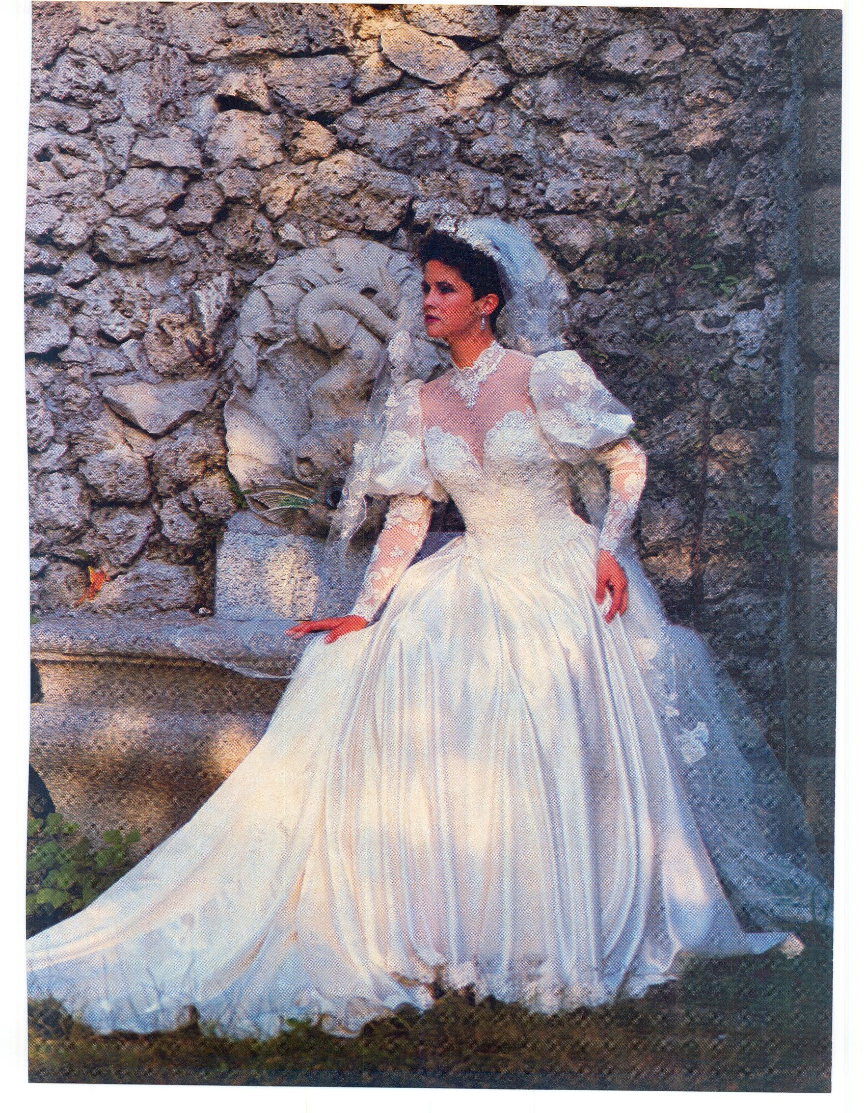 1985 April May Brides Magazine 1980s Wedding Dress Gorgeous