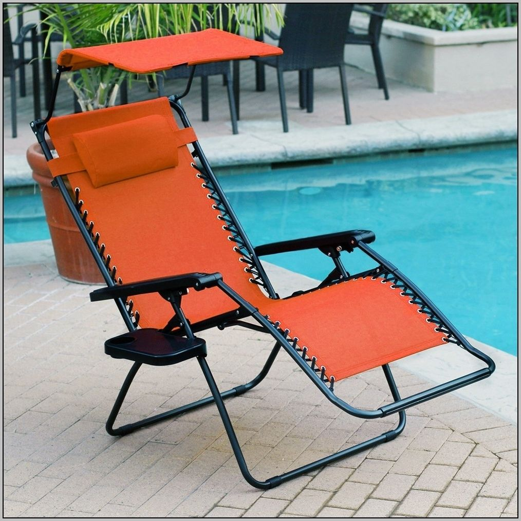 Folding Beach Lounge Chair With Canopy Beach lounge