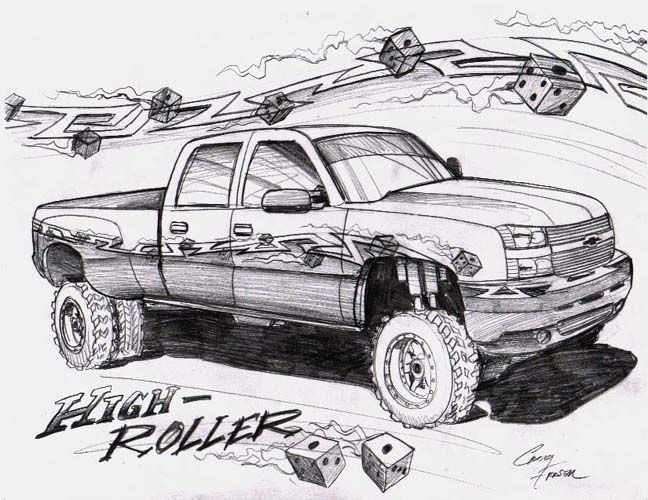jacked up truck coloring pages.html
