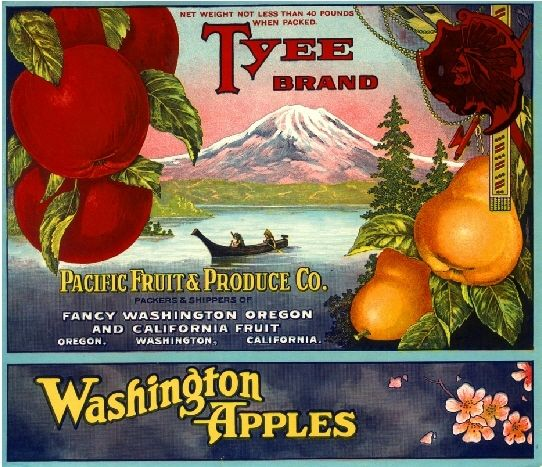 Kelseyville Lady of the Lake Pear Crate Label Print