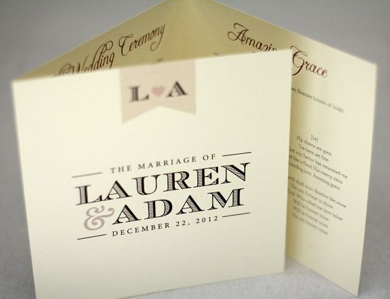 Vintage Wedding Programs // Purchase this Deposit Listing to Get ...