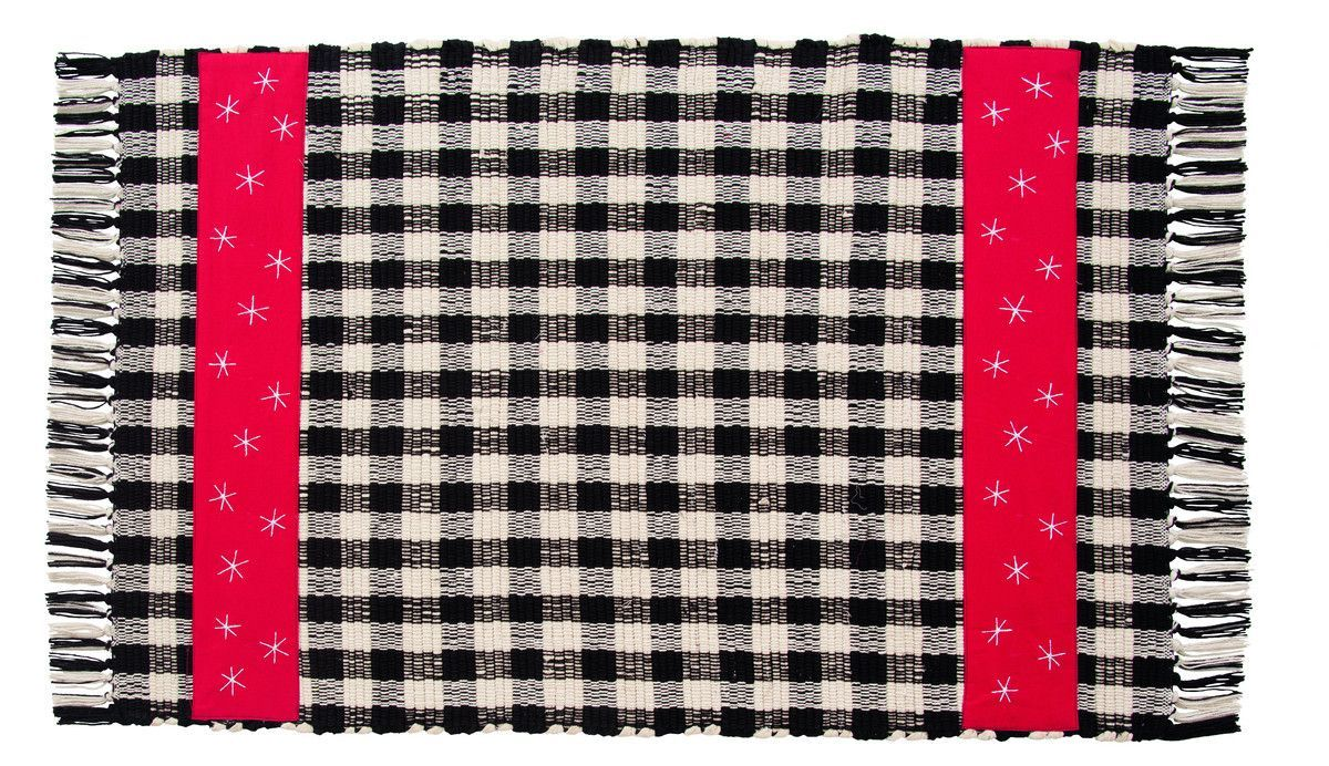 Snow Much Fun Rectangle Woven Rug