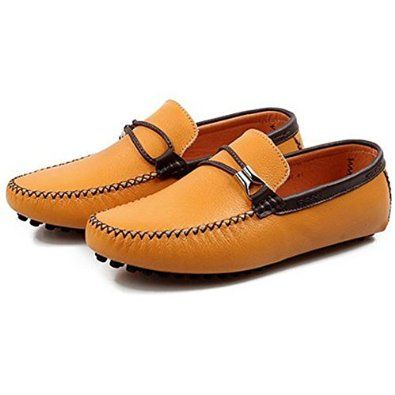 Amazon.com: British Style Men's Boat Moccasin Leather Shoes Driving Loafer  Oxfords: Shoes
