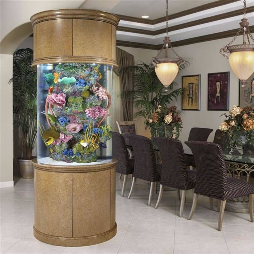 round pillar aquarium fish tank aquariums fish tanks