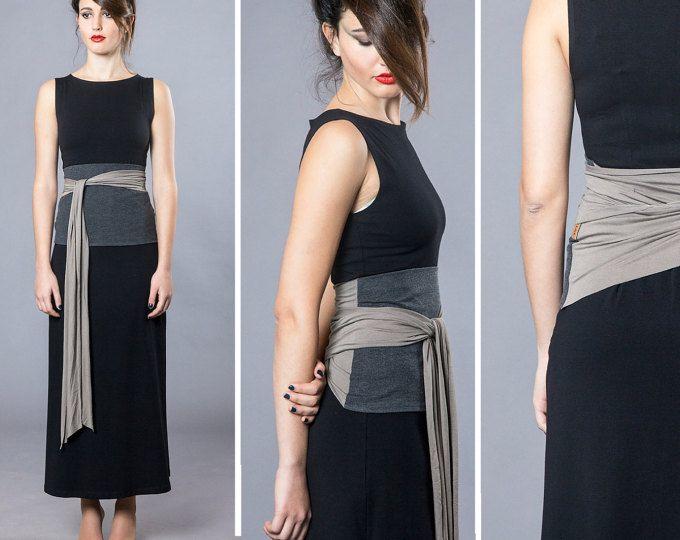 Cinturón Obi de doble color, abrigo cinturón, cinturón ancho, cinturón, cinturón negro, ropa japonesa, cinturón faja, corsé Cincher de la cintura, cinturones para mujer