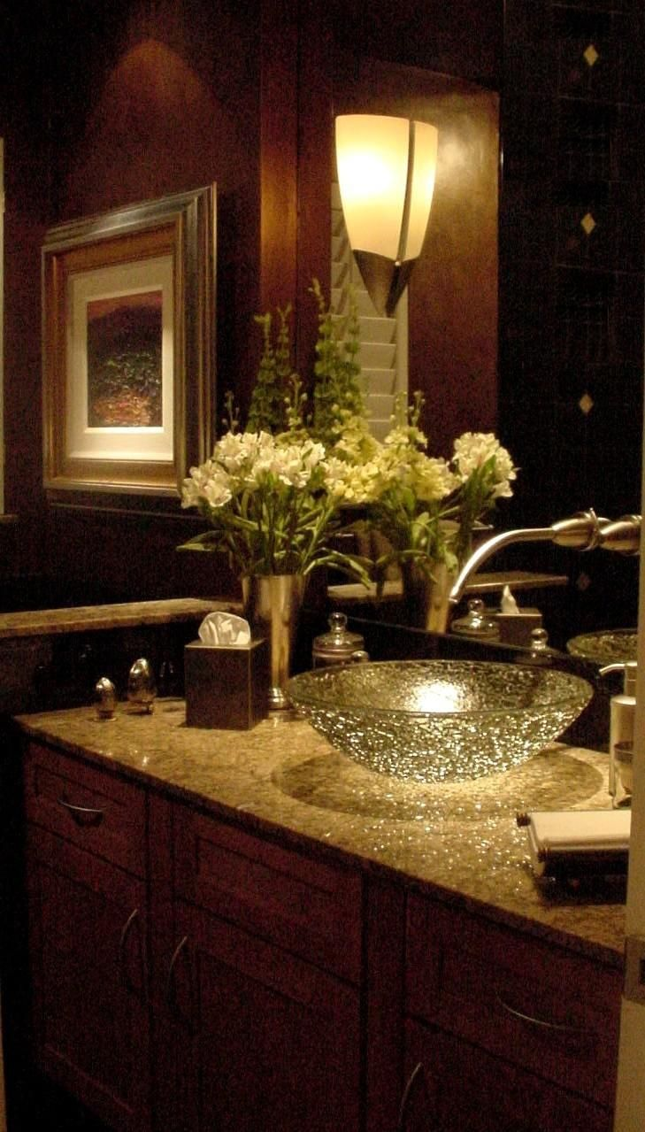 beautiful bathroom sink but with lighter colors in the bathroom