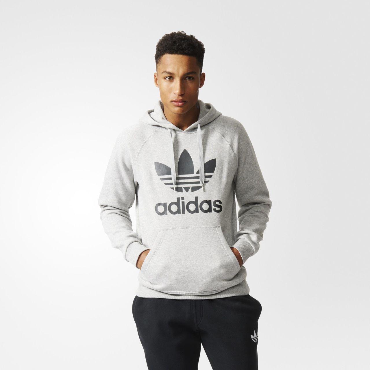 adidas Trefoil Hoodie - Grey | adidas US