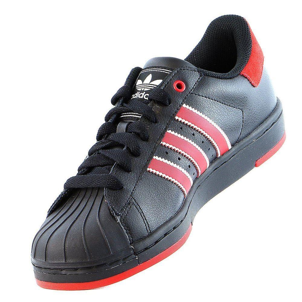 newest 7418e 785da ... mens adidas originals superstar lite 2 rare sneakers new black red