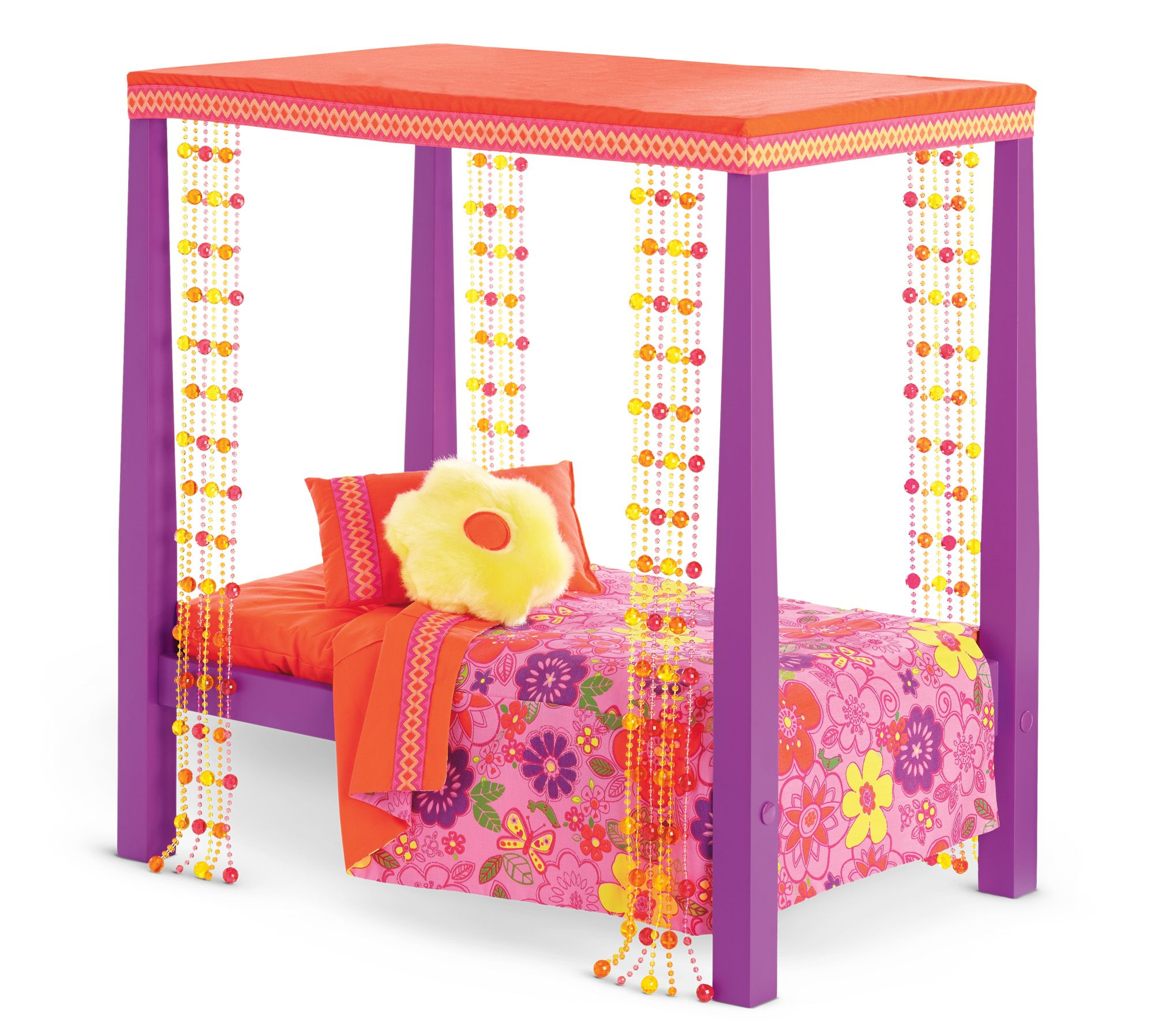 Julie's Bed & Bedding American girl doll bed, American