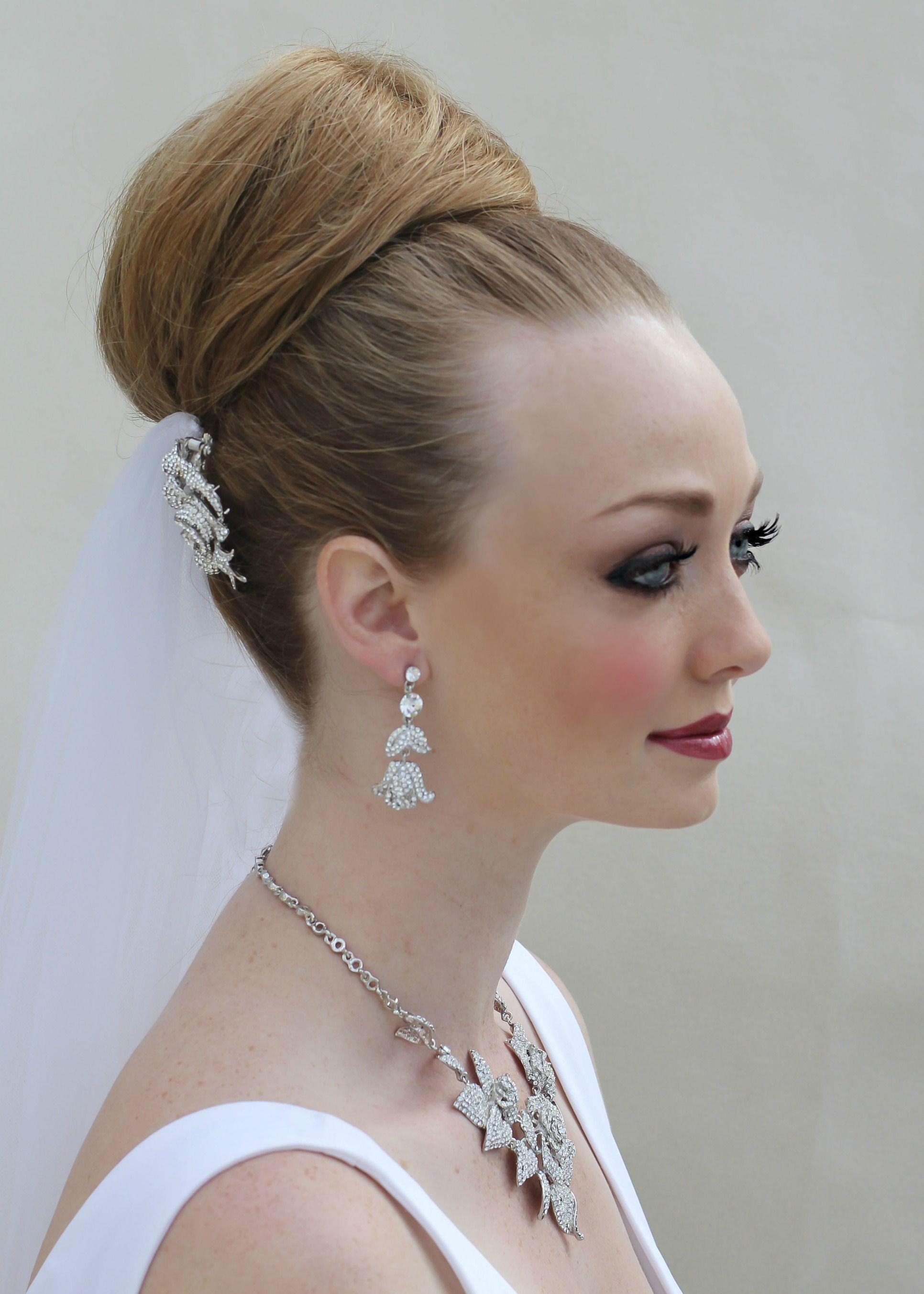 sexy ballerina ~ elegant top knot ballerina bun, smokey eye makeup