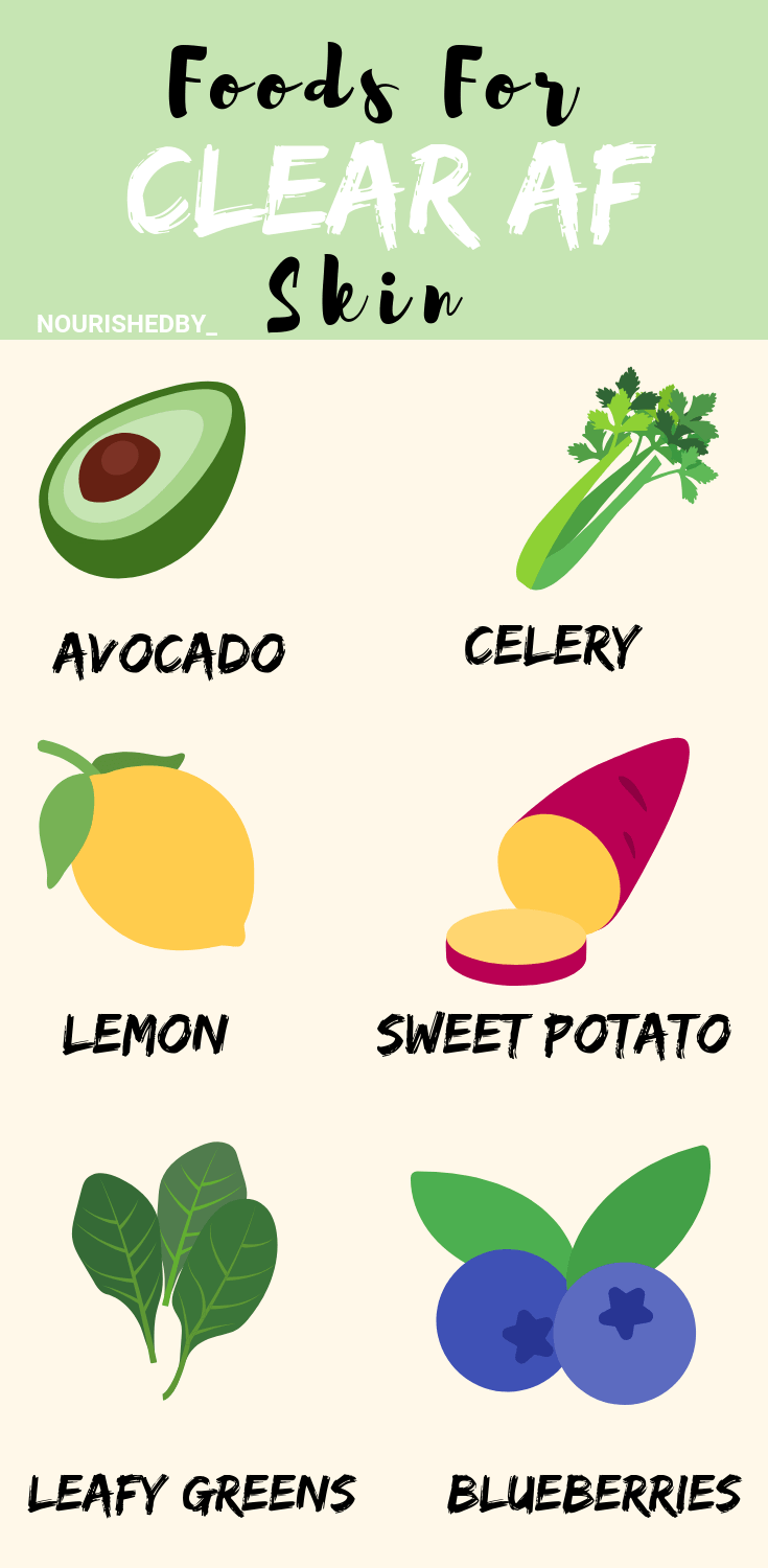 Foods for CLEAR SKIN #beauty