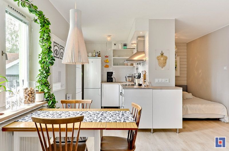 Amenajarea unei garsoniere din Suedia Interiors Small spaces and