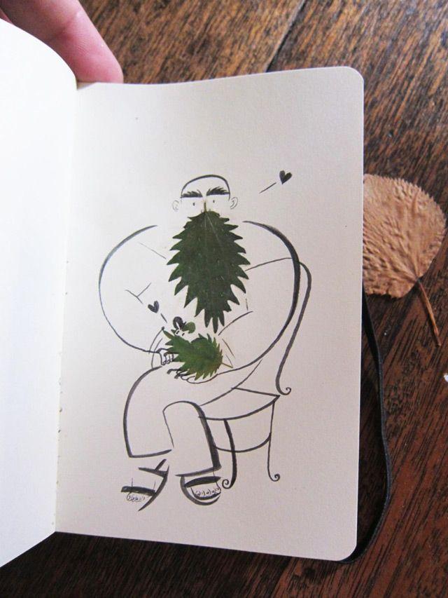 Ame Design - amenidades do Design . blog: Folhas no exercício criativo