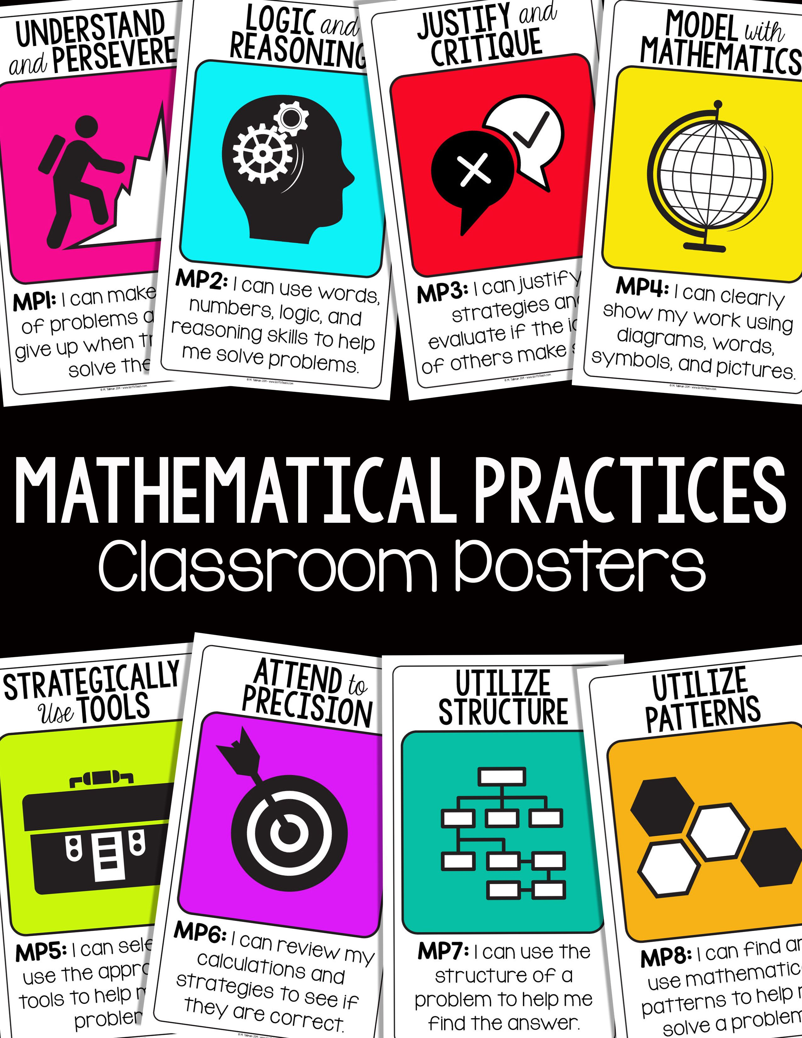 Common Core Standards Posters for Kindergarten by Deanna Jump | TpT