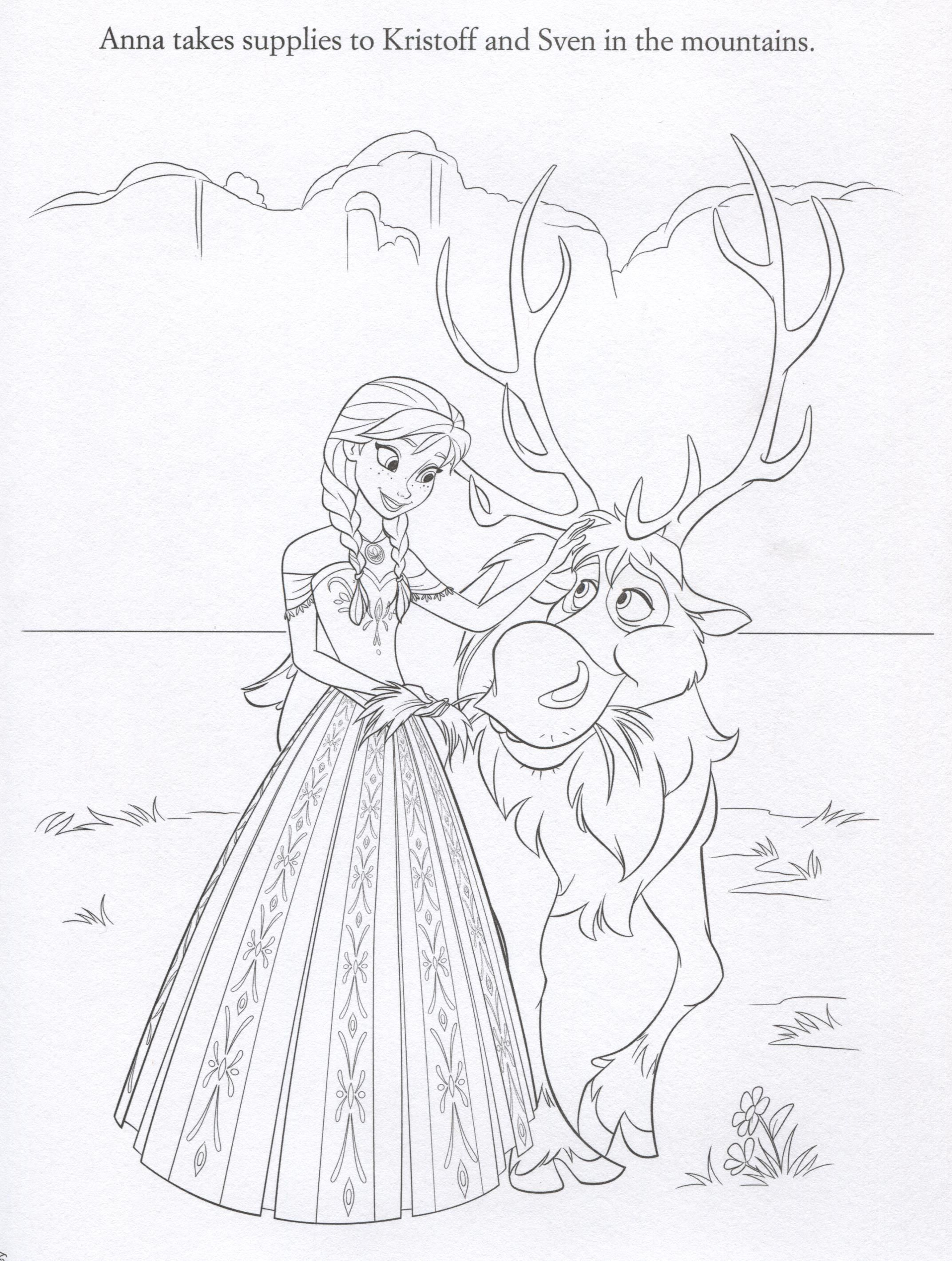 Official frozen illustrations coloring pages colouring