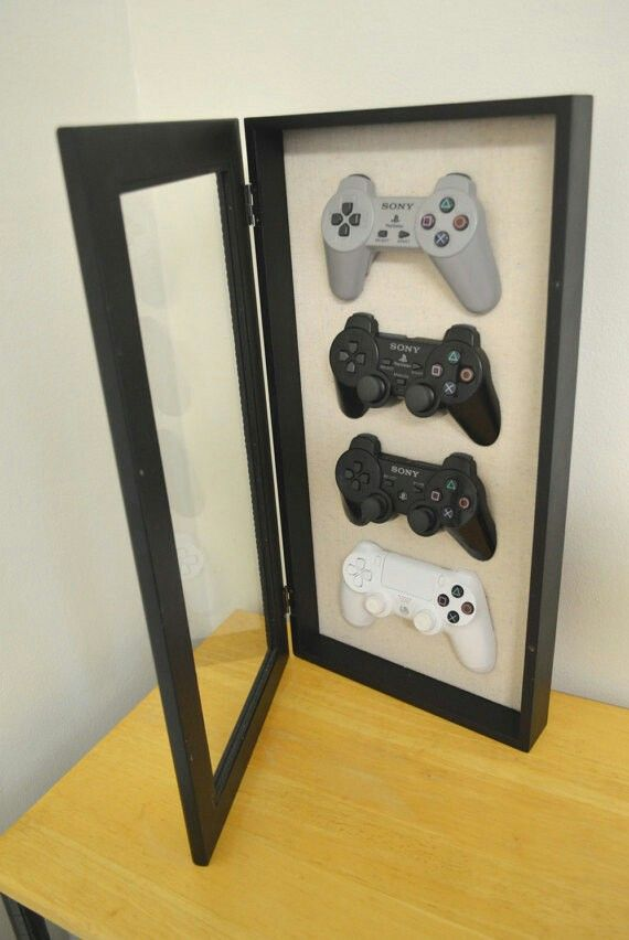 Cabinet Frame Shadow Box To Display Your Game Controllers Gamer