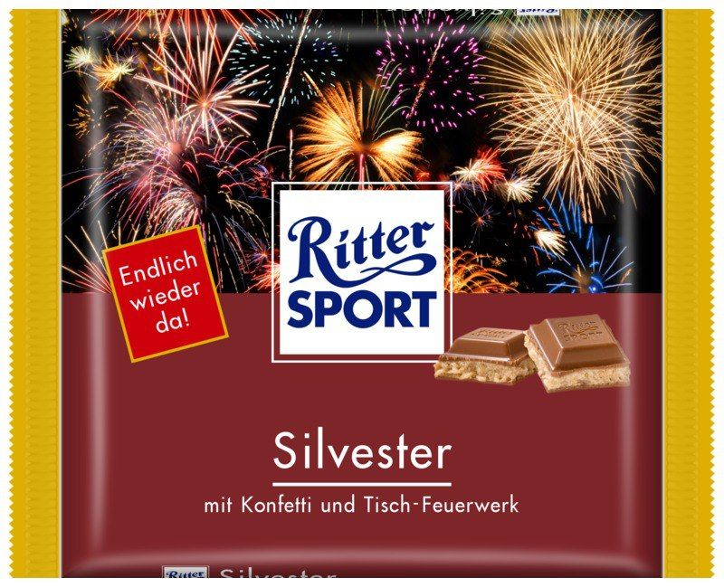 ritter sport fake schokolade silvester ritter sport f r. Black Bedroom Furniture Sets. Home Design Ideas