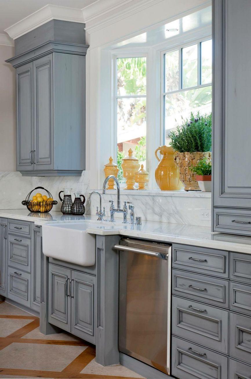 92 beautiful farmhouse blue kitchen in 2020