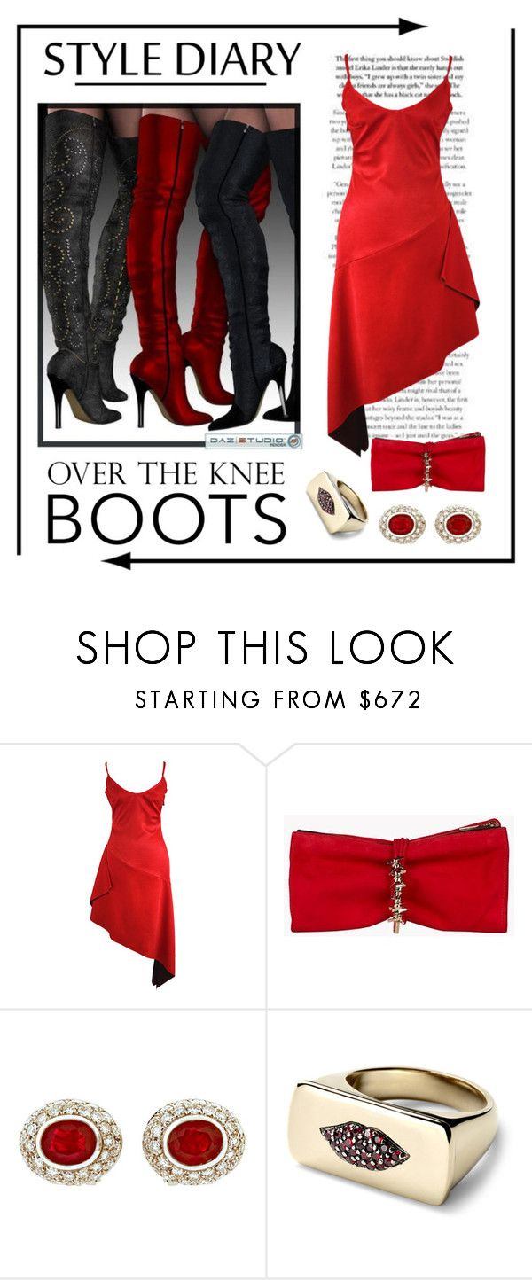 """""""Style Diary... Over the Knee Boots"""" by conch-lady ❤ liked on Polyvore featuring Joana Almagro, Dsquared2 and Alison Lou"""