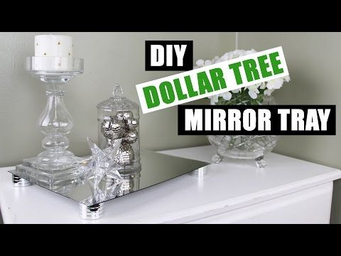 Diy Dollar Tree Mirror Riser Tray Z Gallerie Inspired
