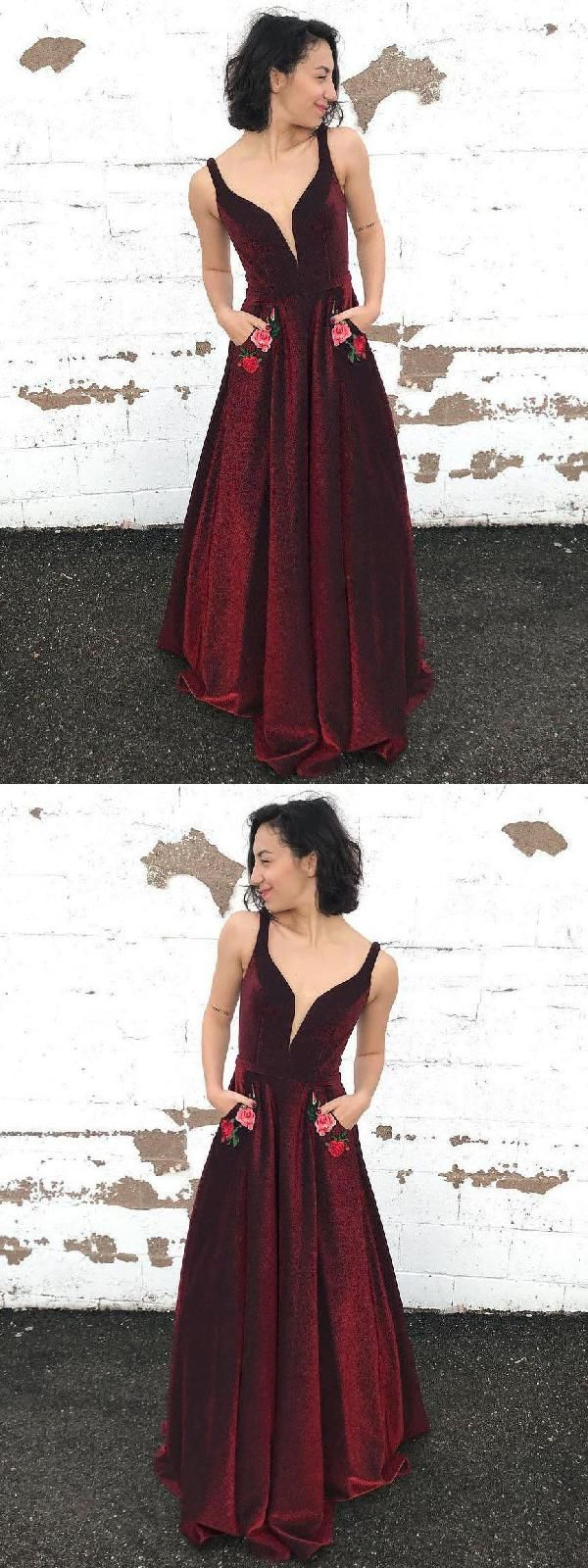 Magnificent Prom Dress Burgundy Prom Dress Long Prom Dress