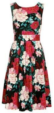Jolie Moi Multicoloured floral print 50's  prom dress