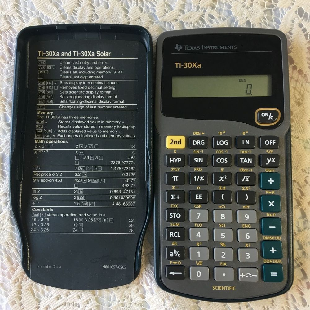 Texas Instruments Scientific Calculator Ti 30xa Solar Powered Statistics Texasinstruments Scientific Calculator Diy Solar Power Generator Solar