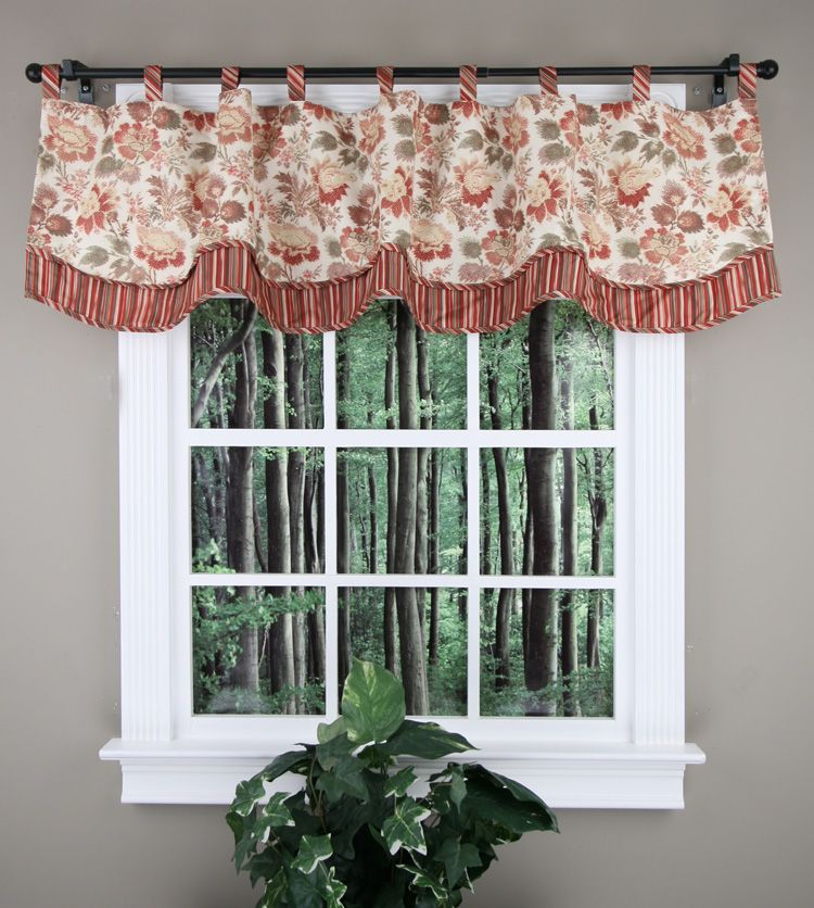 How To Make Scalloped Valance With Tabs Google Search