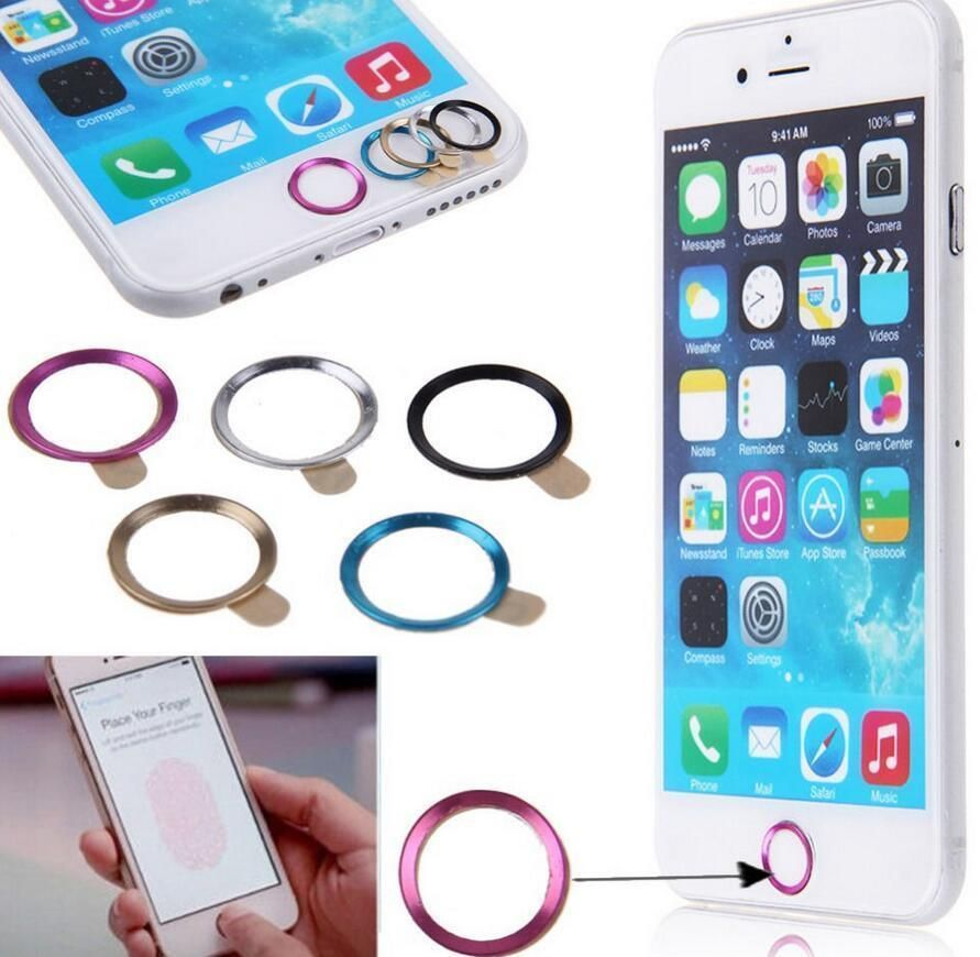 new styles f39a5 68f6c $0.99 - Metal Touch Id Home Button Sticker Ring Circle Cover For ...