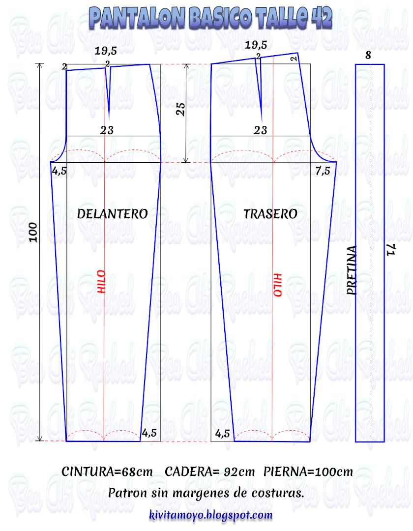 Imagen   Patrones de costura, Patrón de pantalones, Hacer ...