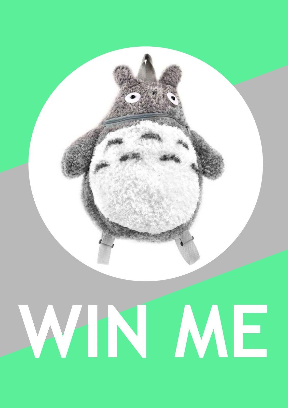 Anyone trying to win a #Totoro Plush Backpack? Enter now until 9/19! #giveaways #win #contests #kawaii #myneighbortotoro #plush #cute #japan #anime #school #kids #moms #shopping