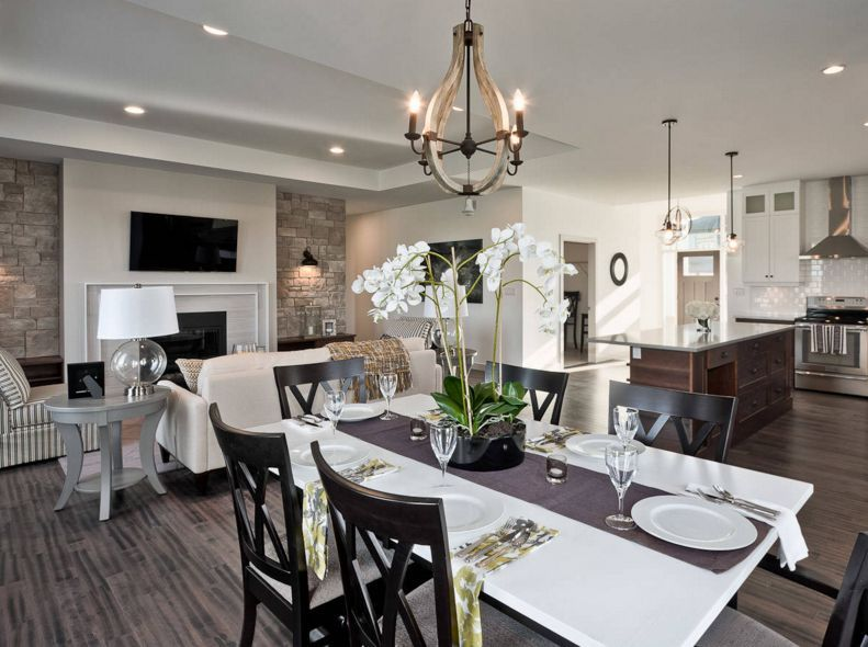 Open Floor Plans The Strategy And Style Behind Concept Spaces White Dining TableDining
