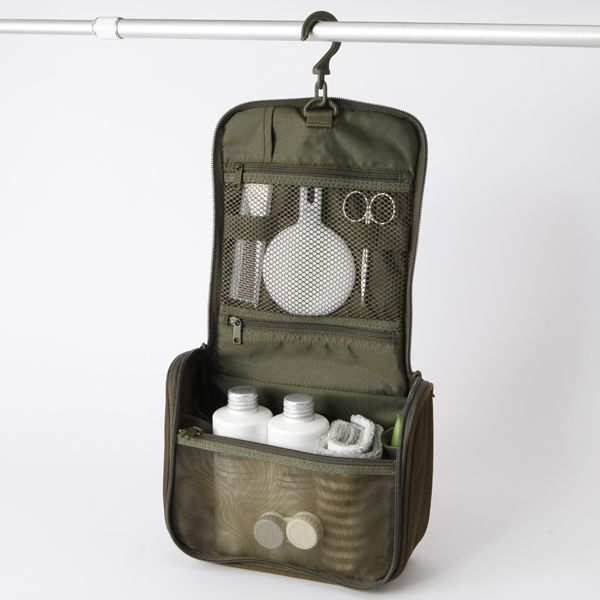 Hanging travel pouch - Bought this at Muji in Tokyo. A very roomy grooming  kit indeed!  3 b5e7457fda