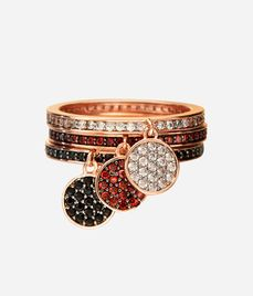 Luxe Elements Pave Trio Ring