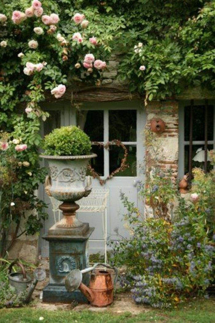 billedresultat for shabby garten gestalten gartendeko pinterest shabby chic garten. Black Bedroom Furniture Sets. Home Design Ideas