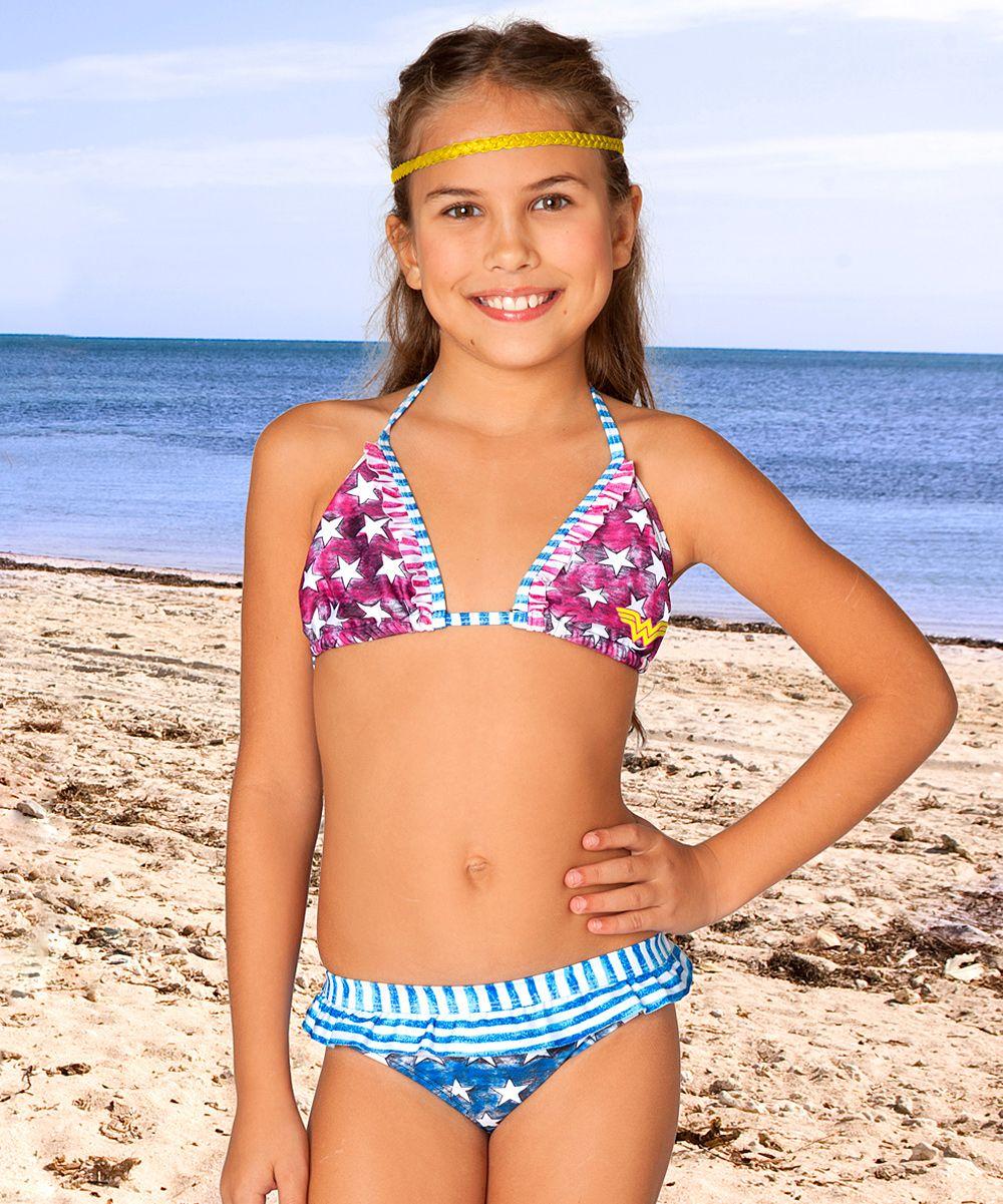 Red  Blue Stars Wonder Woman Bikini - Toddler  Girls -2836