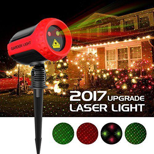 Christmas Projector Lights Garden Laser Light Mino Ant Outdoor Laser Landscape Star Shower Projector Lights With Rf Remote For Xma Outdoor Christmas Projector Christmas Lights