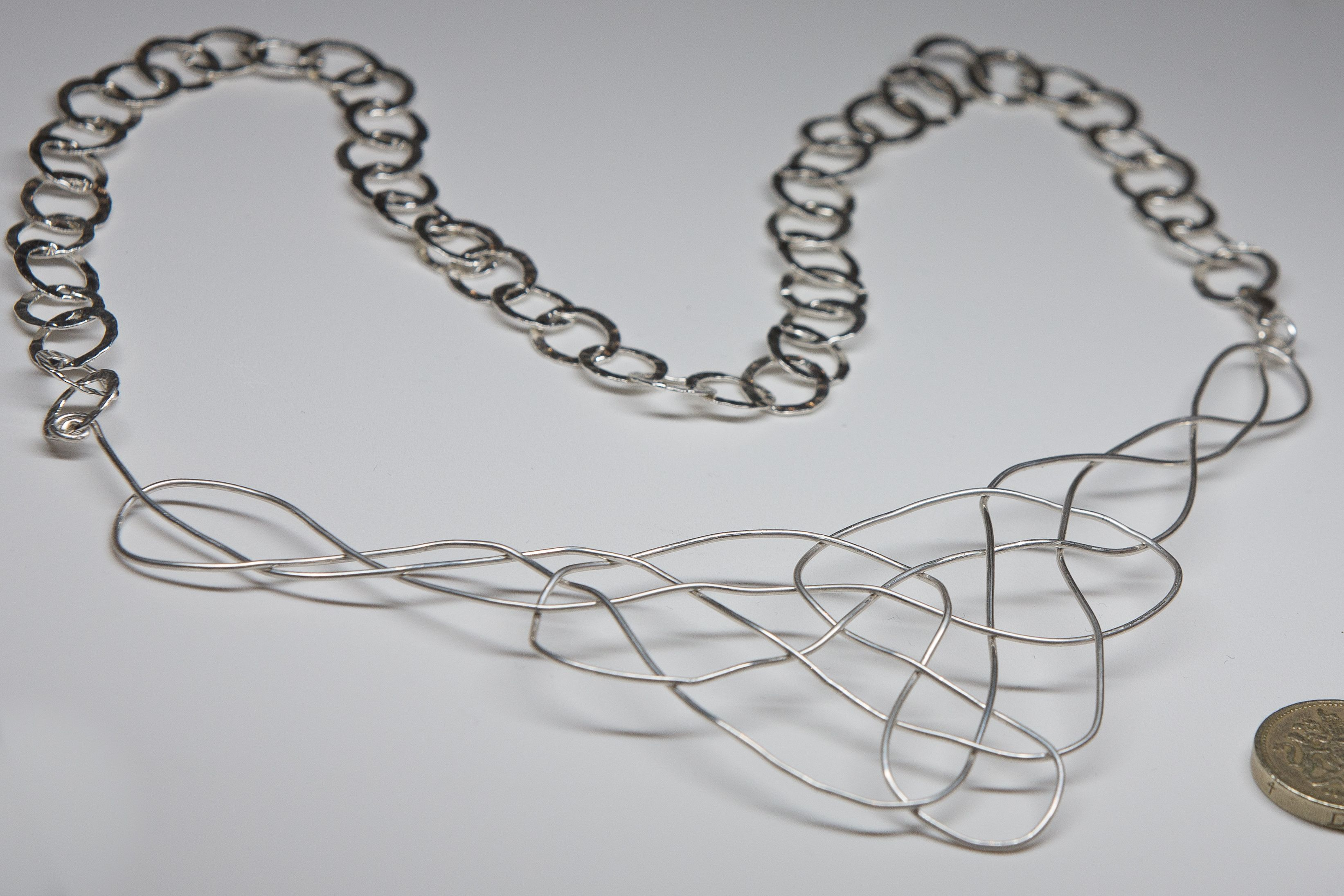 Sterling silver wire knot