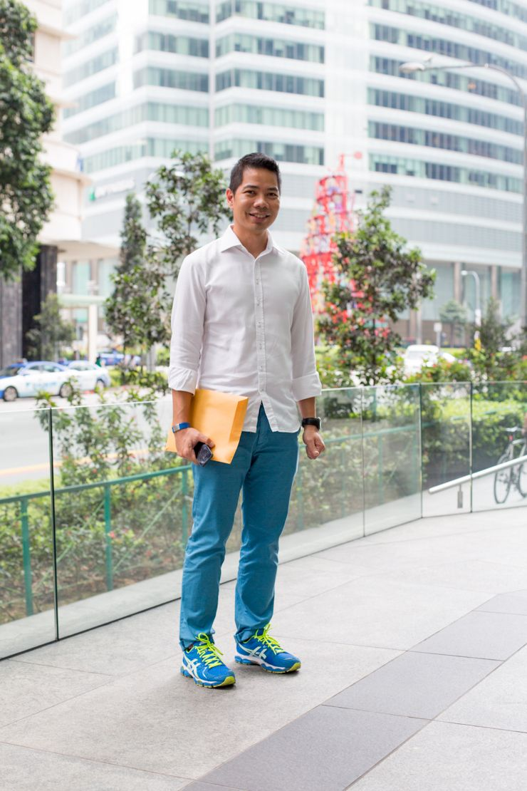 Singapore Fashion, Sartorialist, Asics, Uniqlo, Indonesia, Gentleman,  Sporty, Neon, Ootd