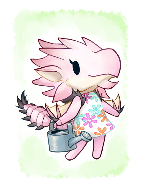 Pink Rathian the normal villager!! I had plans to make a ...