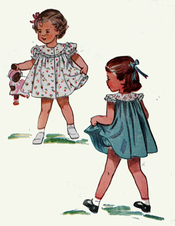 1940s Vintage Sewing Pattern Simplicity 2823 Girls by sandritocat ...