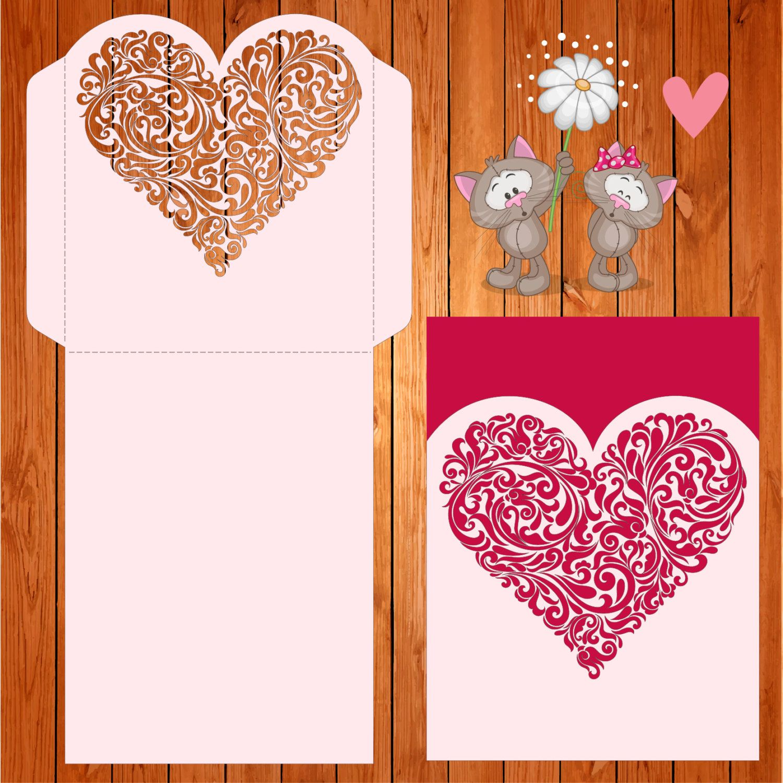 Invitación de la boda tarjeta plantilla corazon, figuras, romántico ...