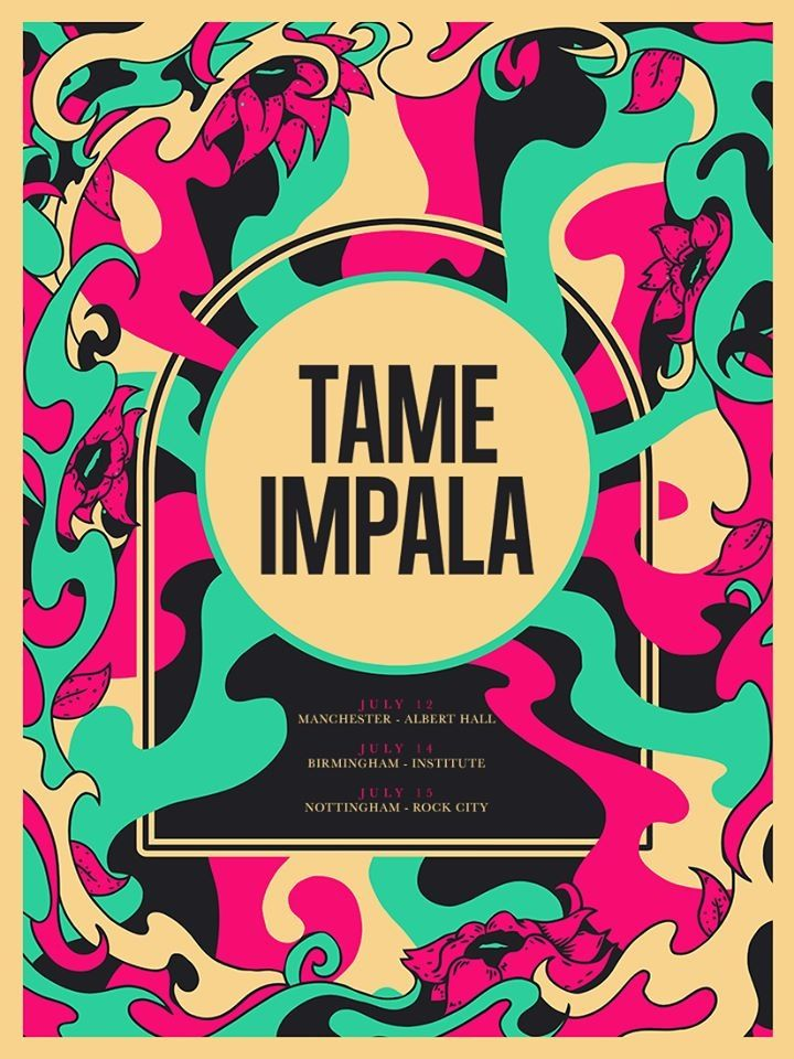 Tame Impala Psychedelic Poster Music Poster Music Artwork