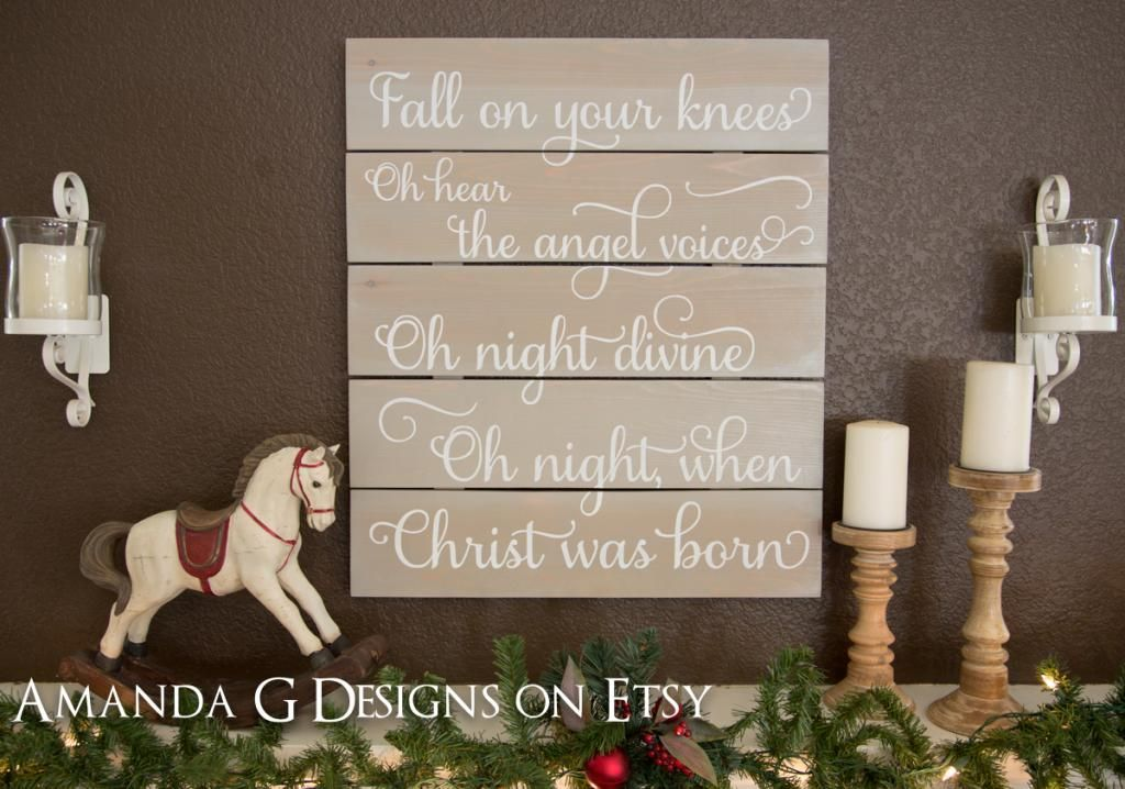 Christmas sign signs Pinterest Holy night and Winter christmas - wood christmas decorations